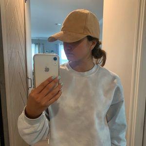 Francesca's suede tan baseball cap
